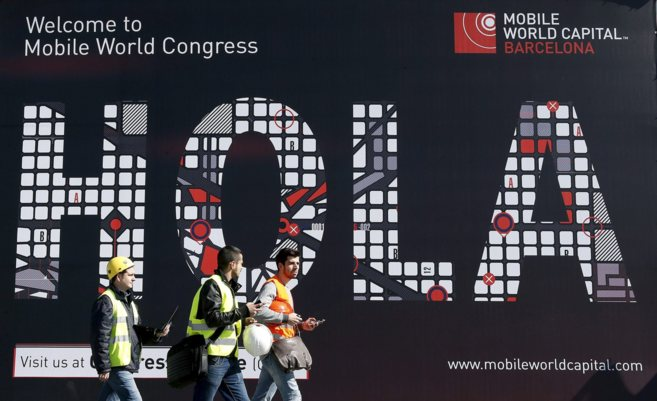 Cartel de bienvenida del último Mobile World Congress de Barcelona.
