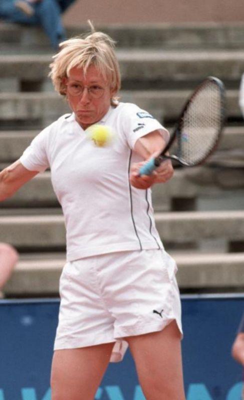 Martina Navratilova. La legendaria tenista se declaró lesbiana en los...