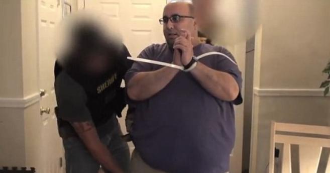 Allen Treaster, tras su detención.