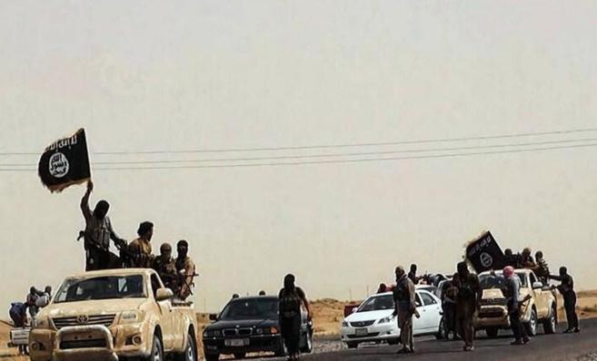Imagen de los combatientes del Estado Islámico publicada en una web...