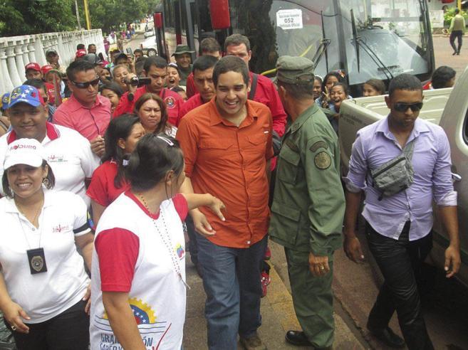 Nicolás Maduro Guerra, el hijo del presidente de Venezuela, en una...