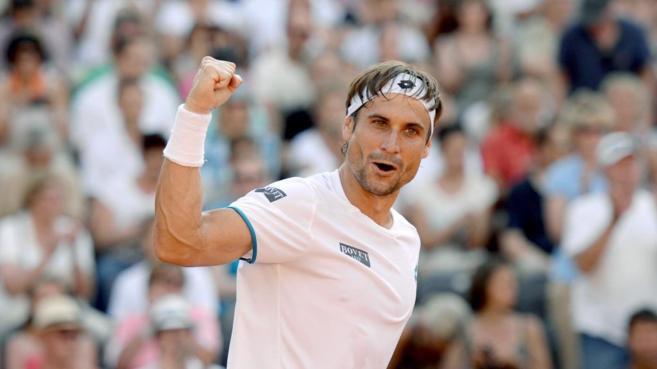 Ferrer celebra el pase a la final tras derrotar a Zverev.