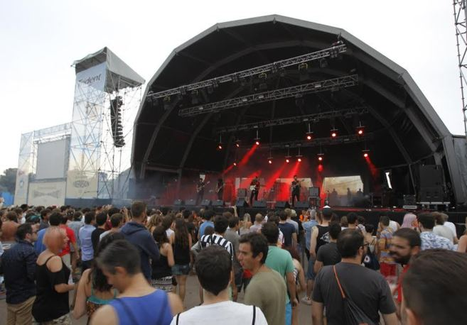 Los 'fibers' en un concierto en el escenario Trident
