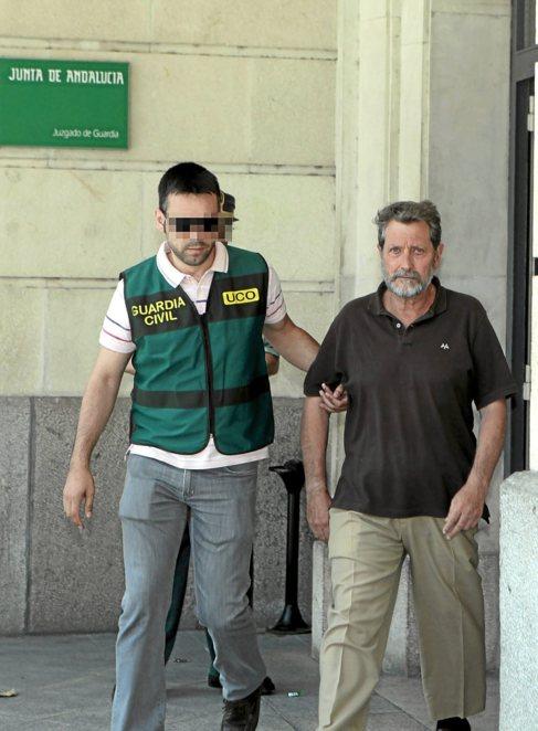 Federico Fresneda, ex tesorero de UGT, detenido por la Guardia Civil.
