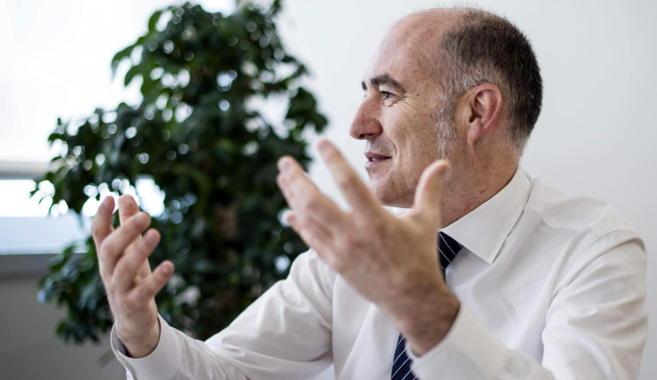 El rector de la UPV/EHU, Iñaki Gorizelaia, durante la entrevista.