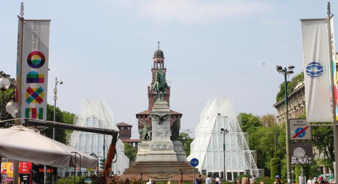 La entrada a la Expo de Milán que se inaugura en mayo de 2015.