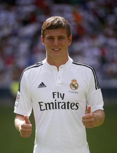 Kroos, durante su presentación con el Real Madrid.