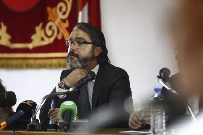 El Alcalde de Brunete, Borja Gutiérrez, en un Pleno.