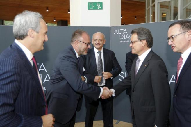 Artur Mas, en la presentación del informe de empresarios catalanes