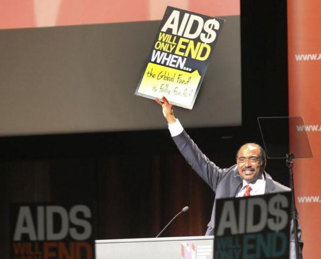 El director de ONUSida, Michel Sidib, durante su discurso en la...