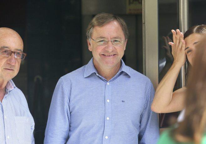 Juan Carlos Moragues, durante la reunión del PP valenciano el pasado...