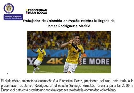 Nota de prensa del embajador colombiano.