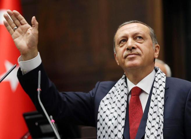 El primer ministro turco, Recep Tayyip Erdongan, en una sesión del...