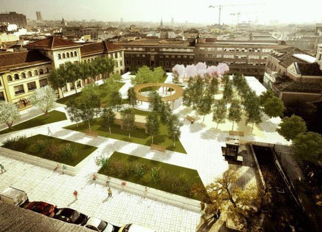 Uno de los tres que han diseñado entre los vecinos y el Ayuntamiento...