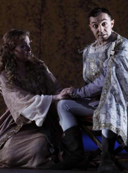 Magdalena y Don Mendo, interpretados por Cristina Goyanes y Ángel...
