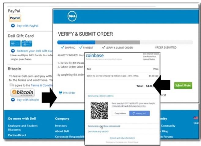 Así es el pago con Bitcoin en Dell.