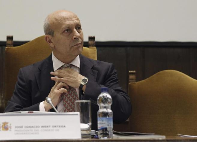 ministro de Educación, José Ignacio Wert.