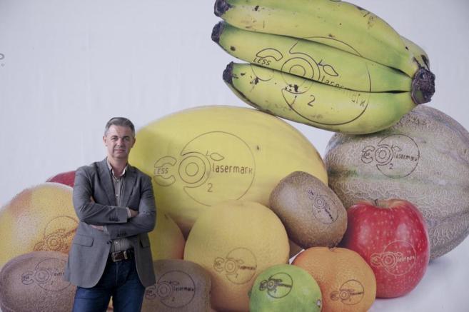 El fundador y gerente de Laser Food, Jaime Sanfelix, en la sede de la...