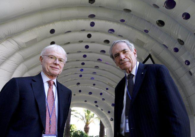 A la izquierda, Tom Hughes junto a Tinsley Oden, en el World Congress...