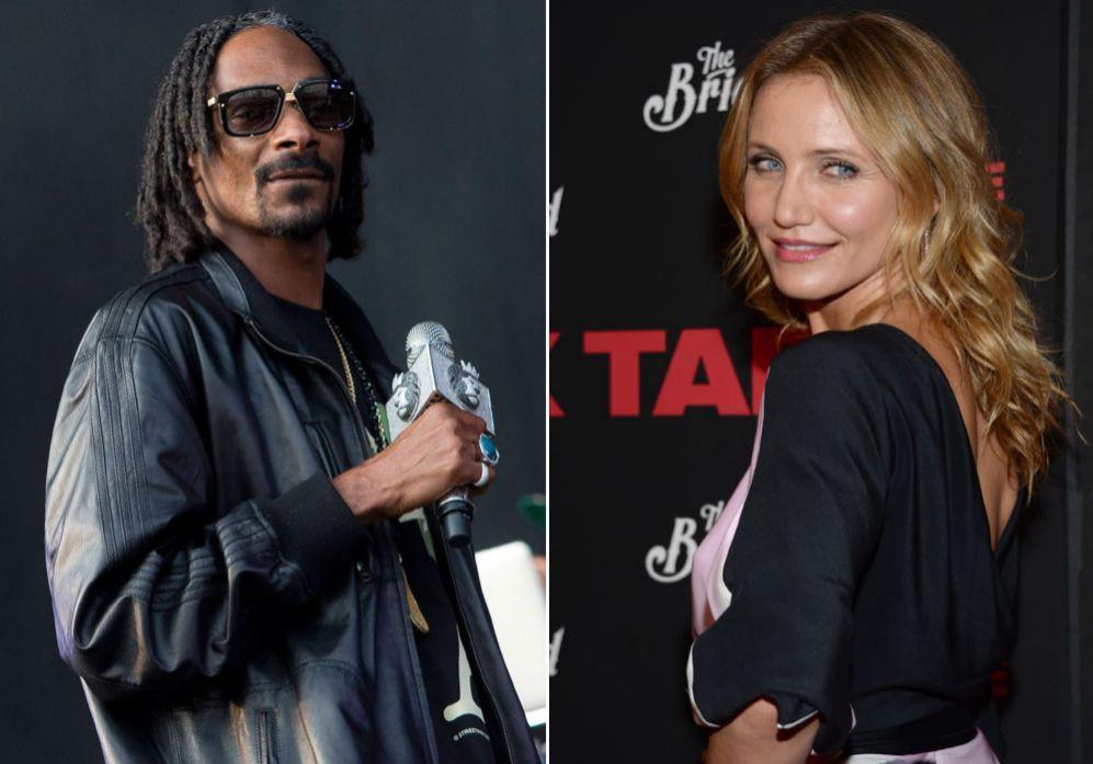 Cameron Diaz y Snoop Dogg. No es que Cameron Diaz (41) y el rapero...