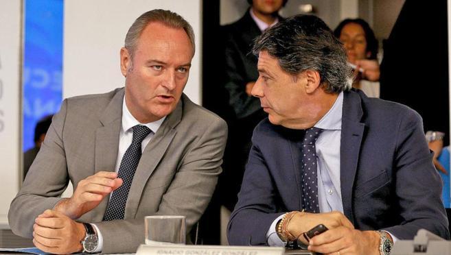 Los presidentes de la Comunidad Valenciana y la Comunidad de Madrid,...