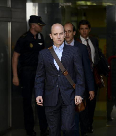 Jenaro García, ex presidente de Gowex, saliendo de declarar en la...