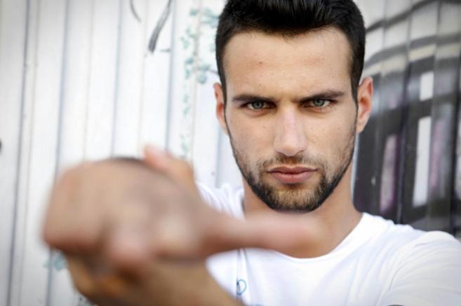 El actor novel Jesús Castro en la Gran Vía de Madrid el pasado...