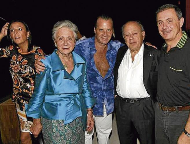 De izquierda a derecha, Mercè Gironés -ex mujer de Jordi Pujol...