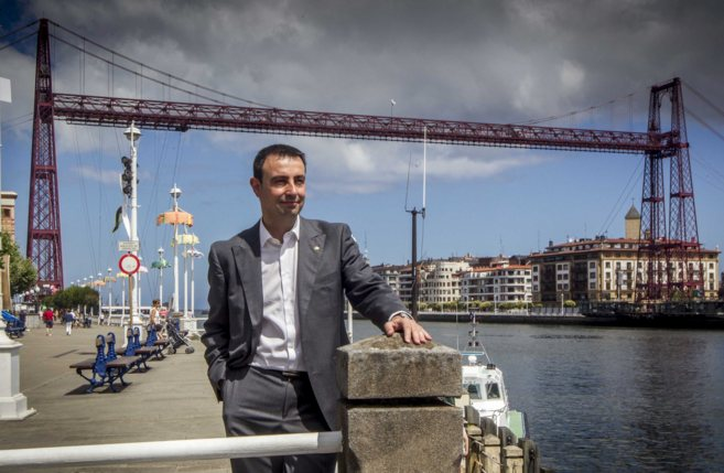 El alcalde de Portugalete y candidato a la secretaría del PSE en...