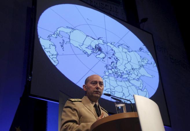 James Stavridis, en un acto de la Alianza Atlántica.