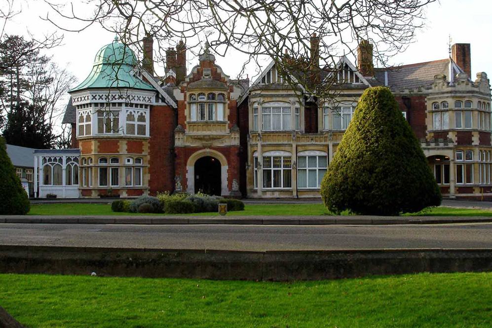 Fachada principal de la mansión de Blethcley Park