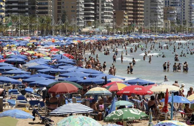 Playa de Levante de Benidorm, Alicante.