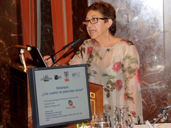 En la imagen, Amparo Cano, que lleva más de 25 años estudiando el...