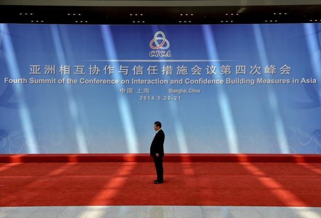 El presidente Xi Jinping, durante una cumbre en Shangai.