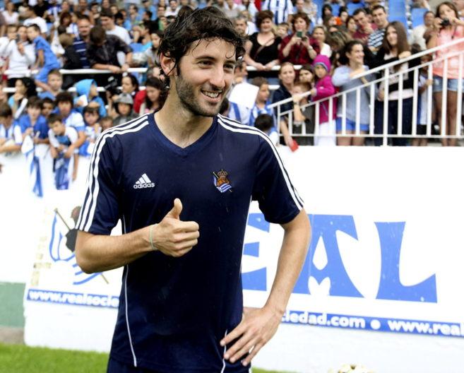 El centrocampista de la Real Sociedad Esteban Granero.