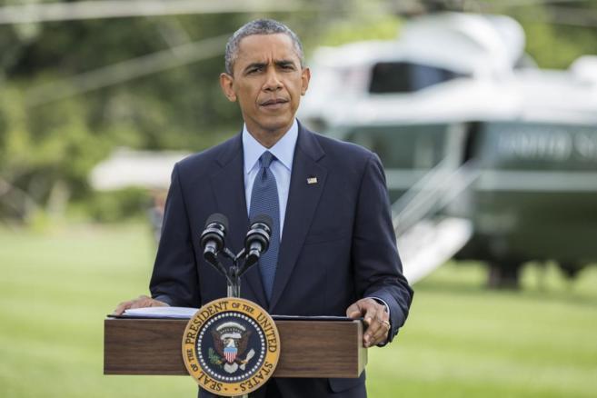 El presidente de los EEUU, Barack Obama, este martes durante la rueda...