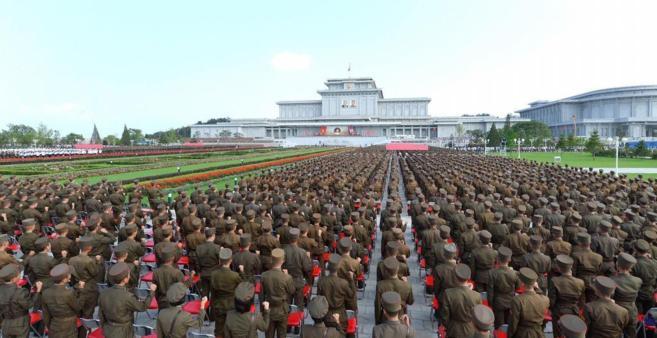 Demostración militar el Pyongyang,el pasado 26 de julio.