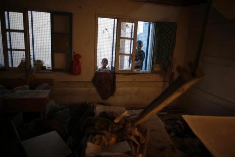 Imagen de la escuela de Jabalia bombardeada.