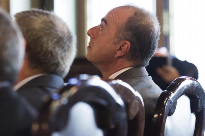 El senador de Coalición Canaria Miguel Zerolo, durante su...