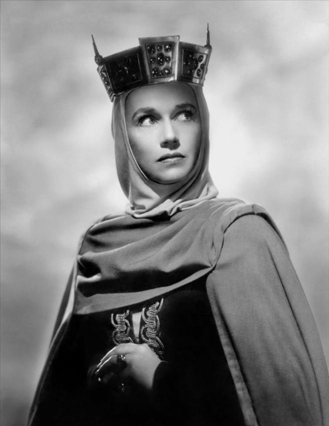La actriz Jeanette Nolan en un fotograma de la película Macbeth de...