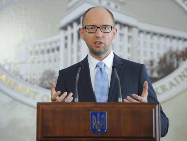 El primer ministro ucraniano, durante una rueda de prensa en Kiev.