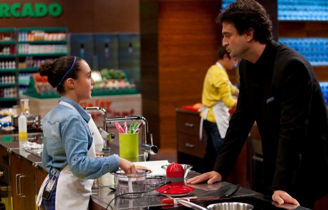Pepe Rodríguez junto a una concursante de la primera edición de...