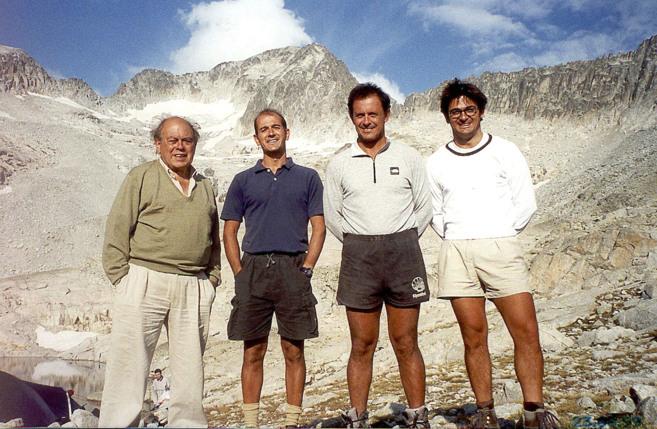 De izquierda a derecha, el ex 'president' Jordi Pujol con...