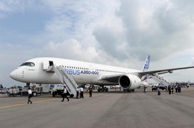 Imagen del modelo Airbus A350-900 similar a los que acaba de adquirir...
