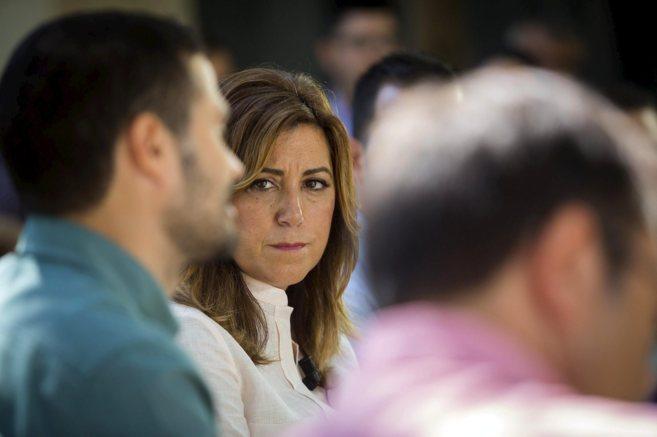 Susana Díaz, en un acto reciente del PSOE de Málaga.