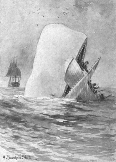La primera ilustración de la ballena de 'Moby Dick',...