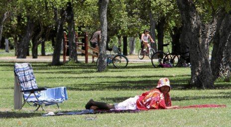 Ambiente campestre en el parque del Alamillo.