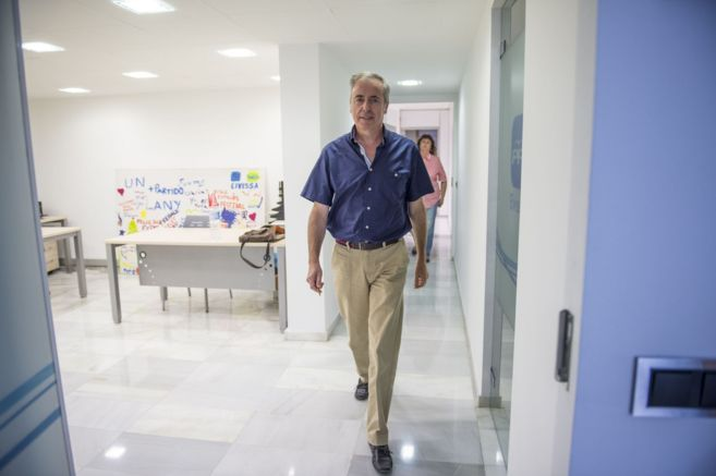 El presidente del Partido Popular de Ibiza Vicent Serra, en la sede...