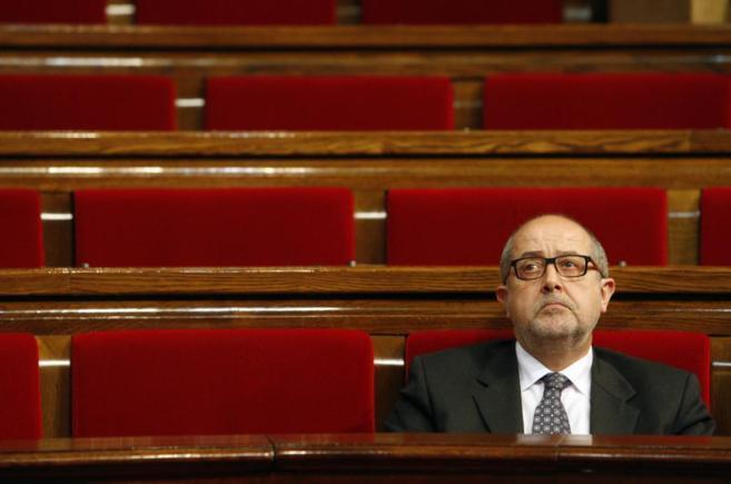 El conseller Felip Puig en un pleno de control del Govern en el...