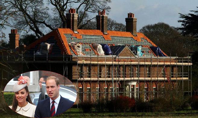 La casa de Catalina Middleton y el príncipe Guillermo, de Norfolk,...